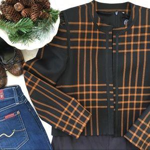 Vintage Copper& Black Plaid Blazer Jacket